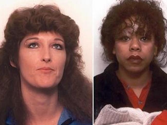 Murdered: Yolanda Sapp (left) and Kathleen Brisbois were found shot dead along the Spokane River in 1990. Picture: Spokane County Sheriff's Office