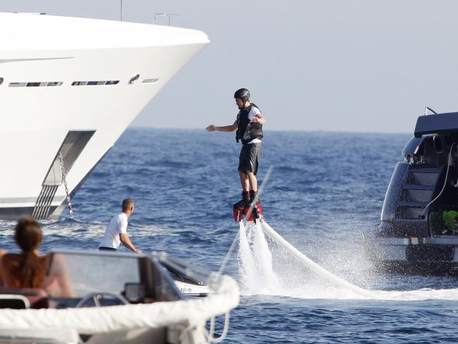 Leonardo DiCaprioon the FlyBoard, in Ibiza.