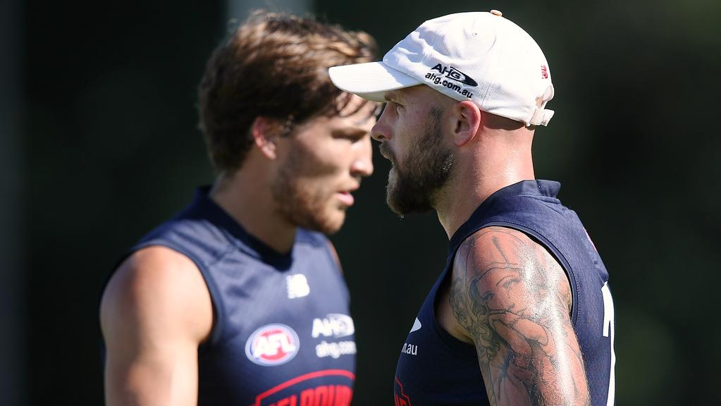 Jack Viney and Nathan Jones.