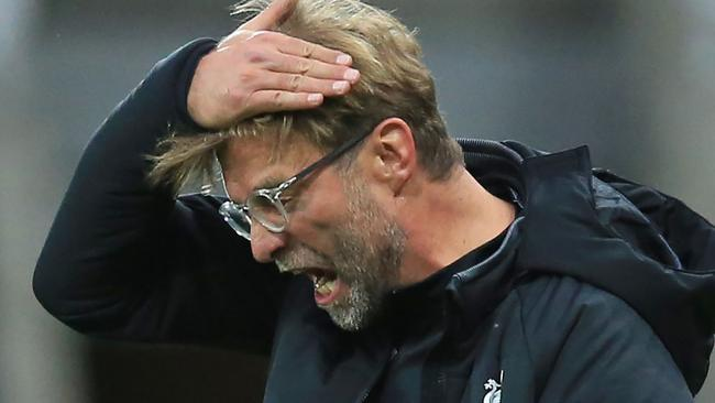 Jurgen Klopp has been frustrated by his team's failings. AFP Photo / Lindsey Parnaby