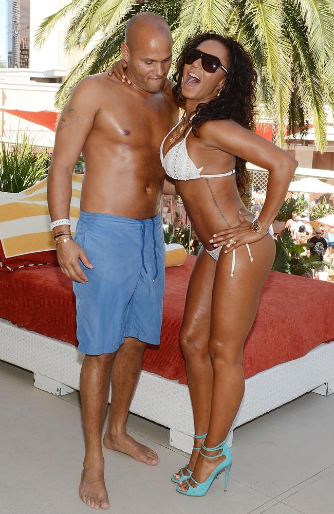 Stephen Belafonte and Mel B in 2013. Picture: Getty Images