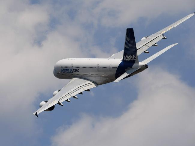 The A380 is the largest passenger airliner in the world. Picture: AFP/Christophe Archambault