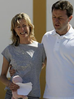 Kate and Gerry McCann talk to press in Praia da Luz, southern Portugal, May 2007.