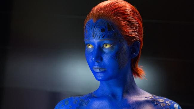 "Jennifer Lawrence's Mystique (seen here in Days of Future Past) is sadly not the ""yellow eyed devil"" haunting David in Legion. Picture: Twentieth Century Fox"