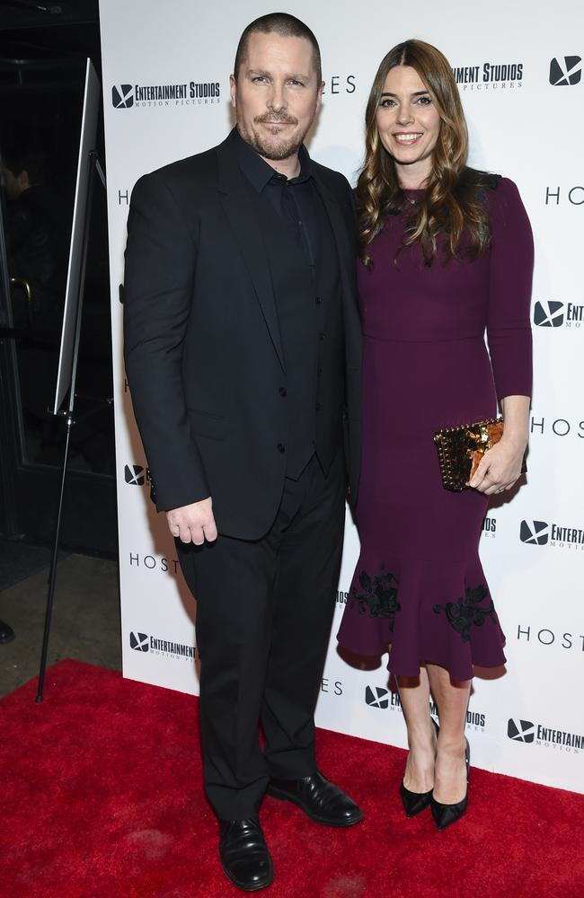 Christian Bale and wife Sibi Blazic attend a special screening of Hostiles in New York