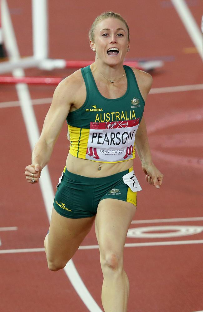 Sally Pearson enjoyed the win. Picture Adam Head
