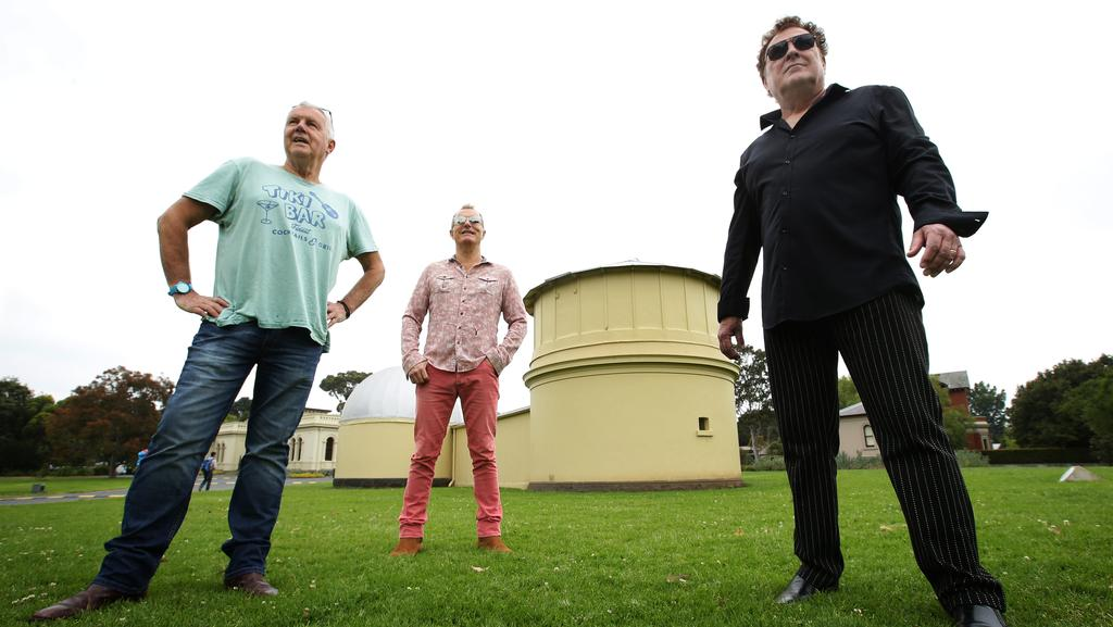 Garden party: Daryl Braithwaite, James Reyne and Ross Wilson are headed to the Botanical Gardens for Moomba long weekend. Picture: Norm Oorloff