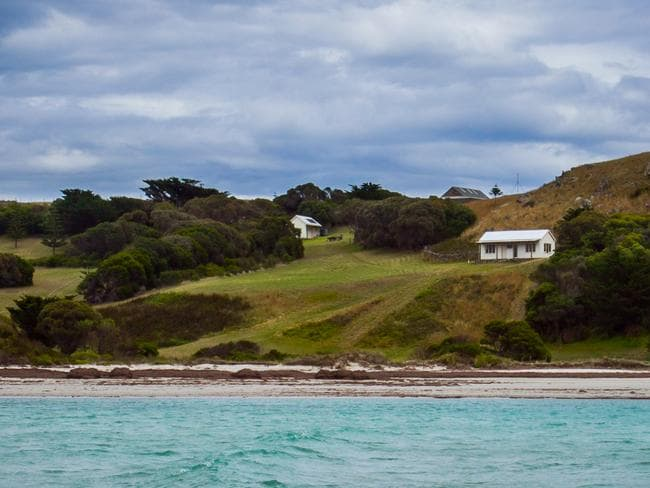 The 287ha Waterhouse Island, 30km off Bridport in North-East Tasmania.
