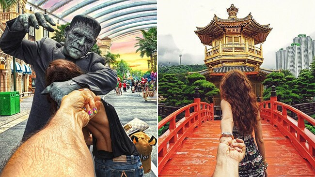 Dragged around the world by his girlfriend. Picture: Murad Osmann