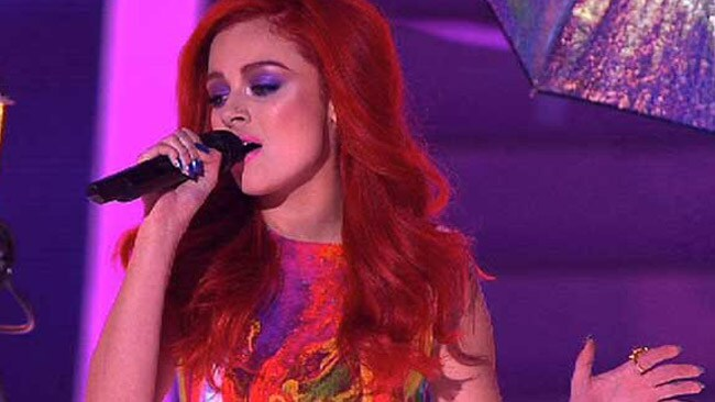 Sarah De Bono performs on the finale of The Voice. Picture: Channel Nine