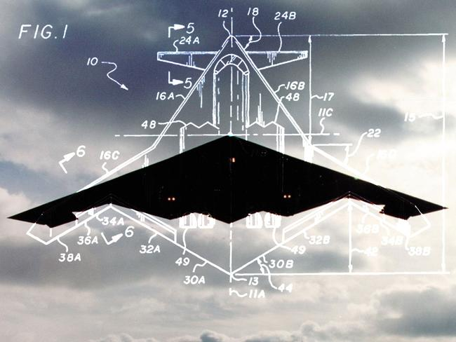 A next-generation stealth concept design is superimposed over a photograph of the US Air Force's B-2 'Spirit' bomber, set to be retired by 2030.