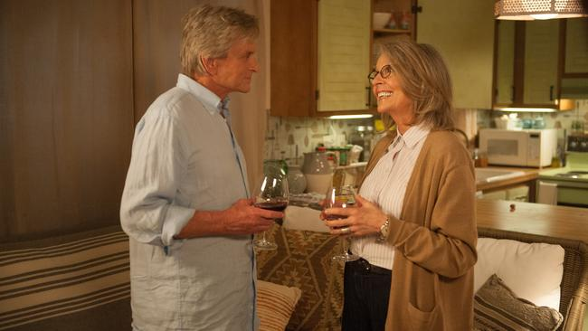 Diane Keaton and Michael Douglas in a scene from film <i> And So It Goes.</i> Picture: Supplied