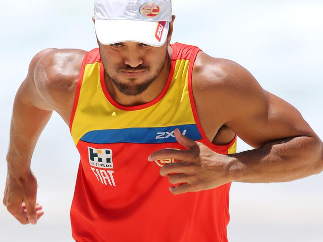 Karmichael Hunt trains with the Gold Coast Suns.