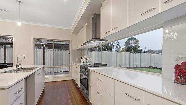 A stylish kitchen is a feature of the recently built house at 8 Hunt Court, Wantirna South.