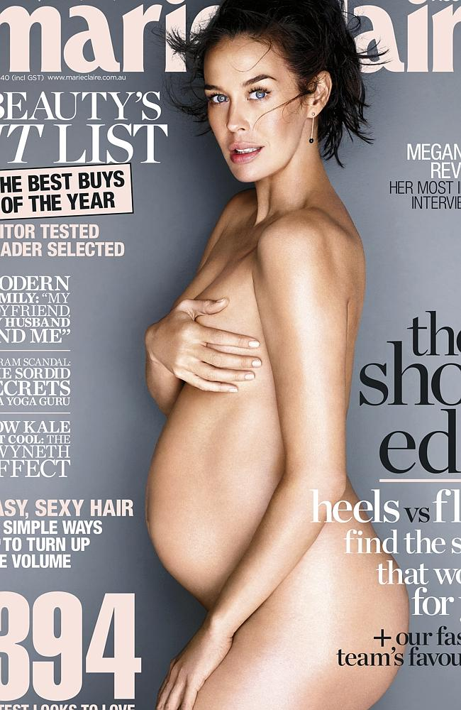 Who's joined the nude-pregnant-mag-cover club?