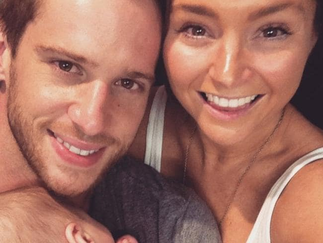Dan Ewing has separated from his wife Marni Little (pictured here with their son Archie.)