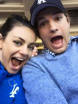 Ashton Kutcher and Mila Kunis. Picture: Facebook