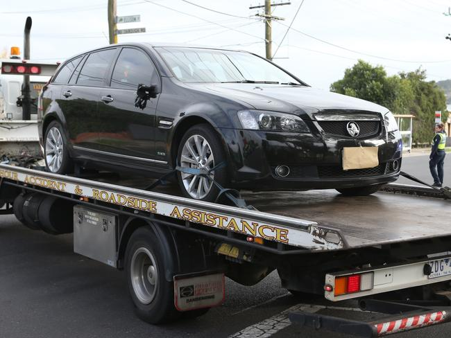 A black Holden was found abandoned nearby. Picture: David Crosling