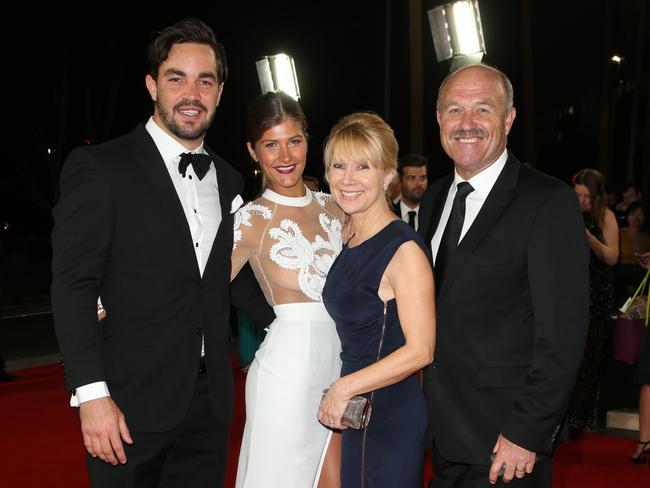 Aidan Guerra and Belinda Bartholomew with Jacqui and Wally Lewis.