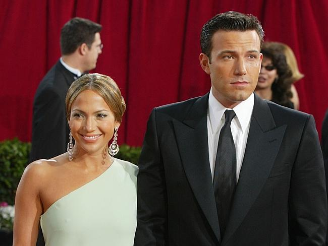 Jennifer Lopez, and Ben Affleck attend the 75th Annual Academy Awards in 2003.