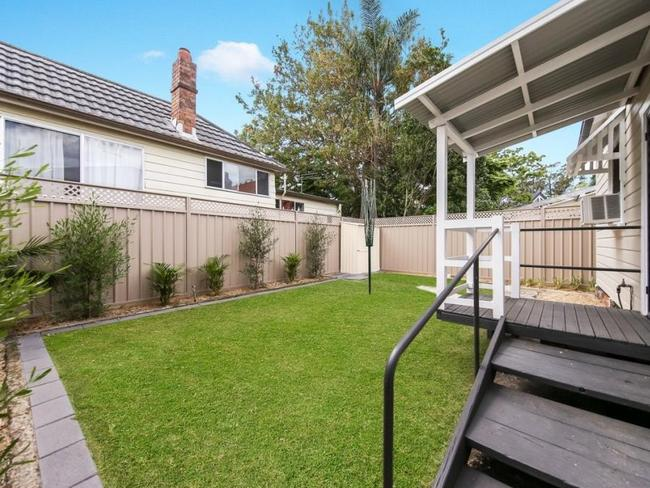 Transformed back yard of the Newcastle house where Ricky Slater broke in before being chased by Ben Batterham. Picture: realestate.com.au