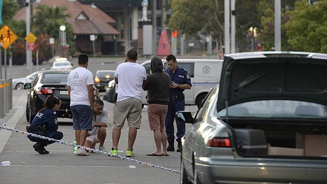 Tragic: The scene of the accident at Sydney Olympic Park on February 8.