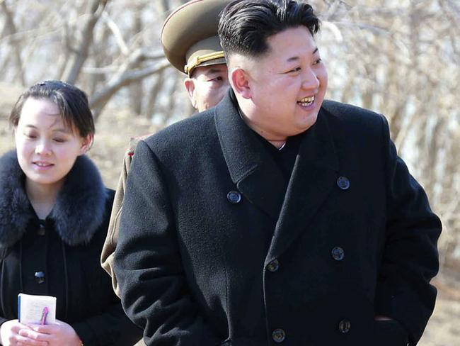 North Korean leader Kim Jong-un has been engaged with a war of words with US President Donald Trump in recent weeks. Picture: KCNA/Korea News Service/AP