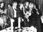 """Paul McCartney member of band """"The Beatles"""" celebrates his birthday in Sydney with Delphine Morrisey (R) other fans during their Australian tour in 1964. Picture: News Corp"""