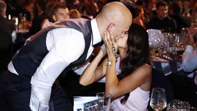 Gary Ablett and Jordan at the 2013 Brownlow.