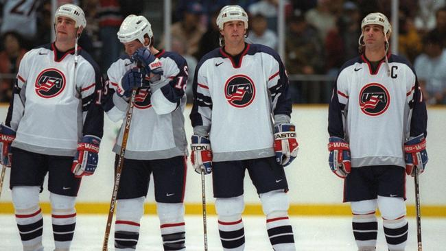 America's ice hockey team caused plenty of damage to a couple of rooms at the 1998 Winter Olympics.