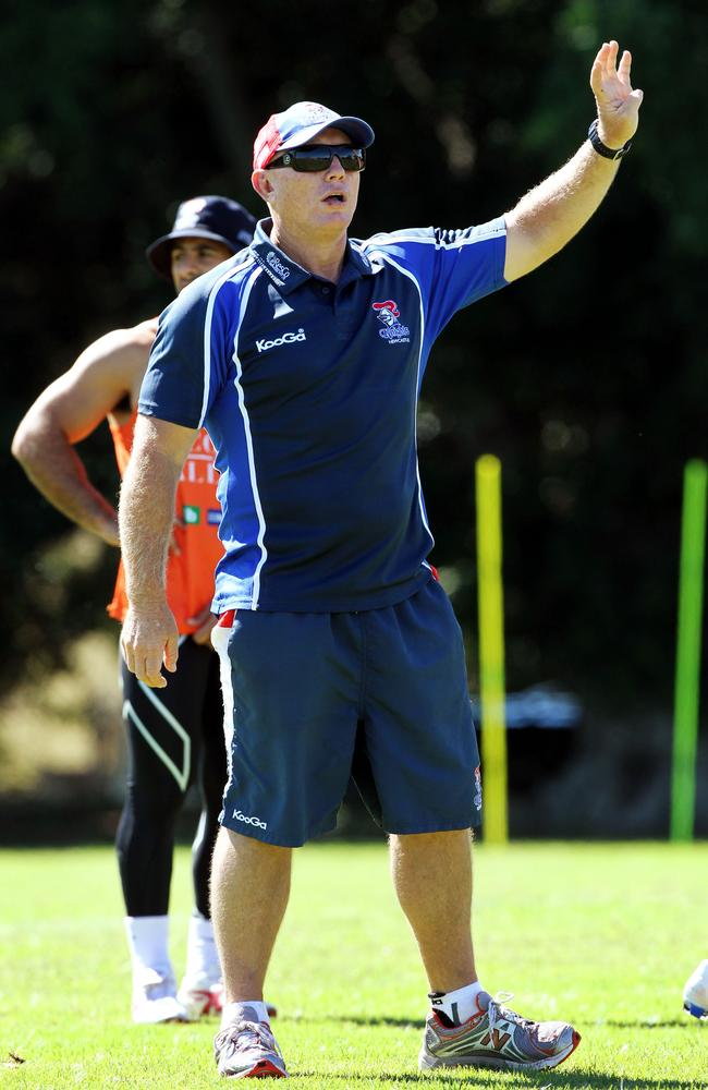 Rick Stone at Knights training.