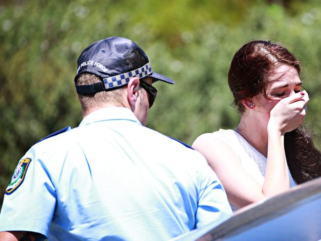 The woman arrives at the scene to be told her mother, Hane Mathieson, was dead. Picture: Adam Yip