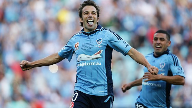 Sydney FC's Alessandro Del Piero is still a goal-scoring wizard. Picture: Brett Costello.