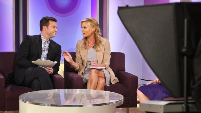 New look ... David Campbell and Sonia Kruger have proved natural co-hosts since first teaming together to launch Mornings in 2013. Picture: Atilla Szilvasi
