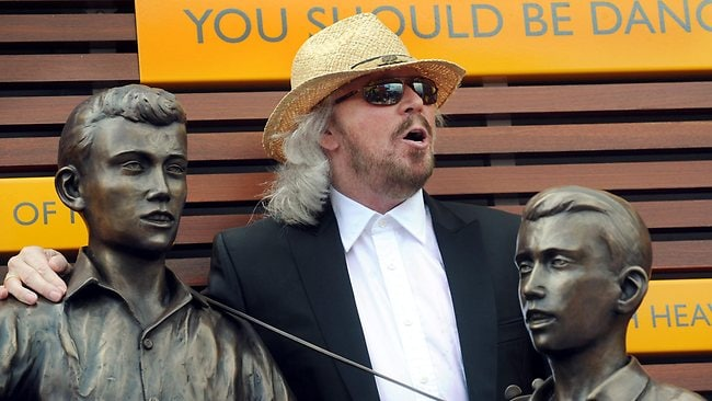Barry Gibb at the Bee Gees Way and statue unveiling. Picture: Higgins