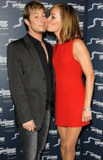 Duncan James and Tara Palmer-Tomkinson attend Capital's Dinner On The River on June 16, 2008 in London, England. Picture: Jorge Herrera/Getty Images