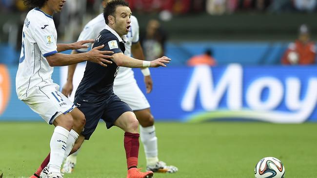 France's midfielder Mathieu Valbuena was impressive against Honduras.