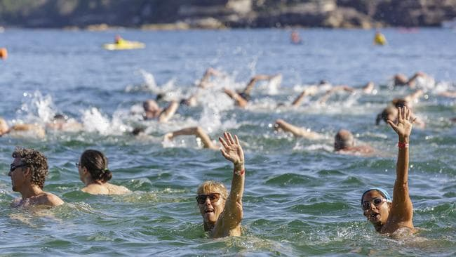 Swimmers take part in the annual Sydney Skinny at Cobbler's Beach on February 28, 2016 in Sydney. Picture: Brook Mitchell