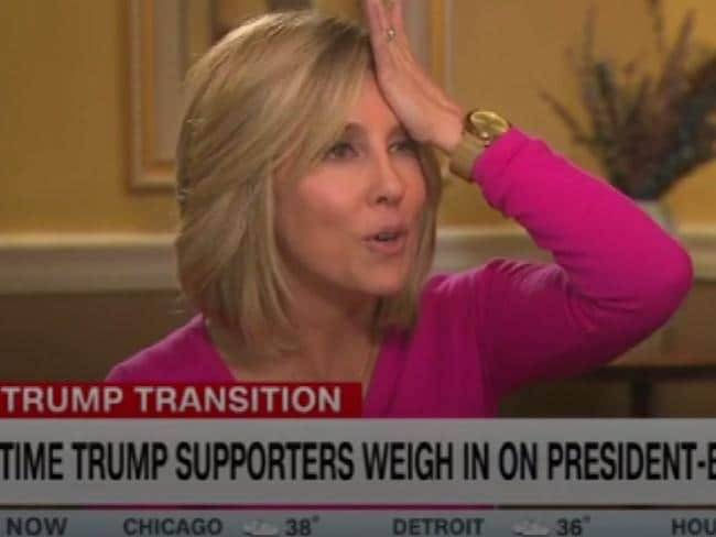 A frustrated Camerota opts for the facepalm. Picture: CNN
