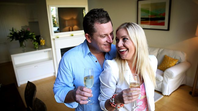 The Block Winners Phil and Amity at their house in Bondi.
