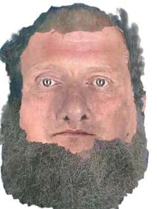 The identikit of the man found in the River Torrens on Thursday. Image: SAPOL