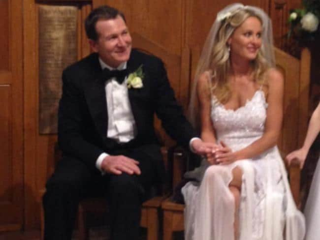 Mark McInnes on his more traditional, and first, wedding day to Lisa Kelly in Melbourne.