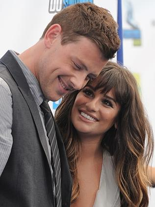 Final words ... Cory Monteith, left, and Lea Michele in 2012. He died the following year.