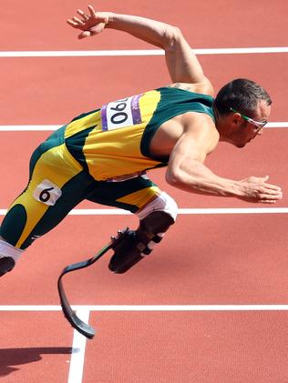 Oscar Pistorius during the London 2012 Olympics. Picture: Getty