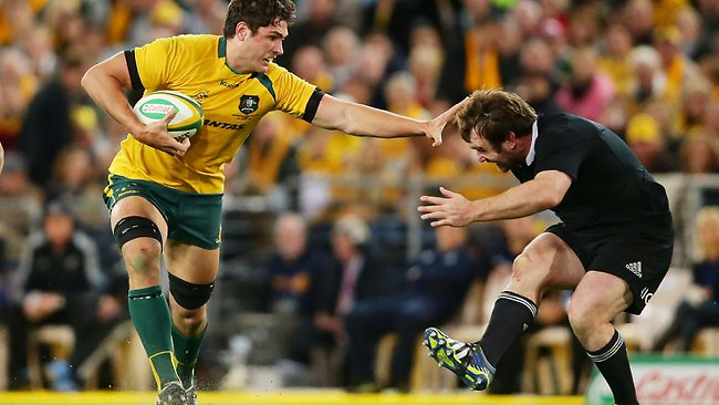 Rob Simmons was strong for the Wallabies in theor loss to the All Blacks.
