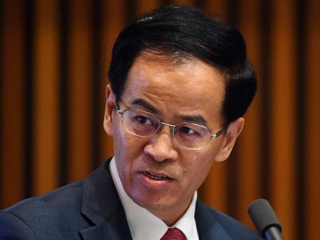 China's ambassador to Australia Cheng Jingye has responded angrily to claims about Chinese influence in Australian politics. Picture: AAP/ Mick Tsikas
