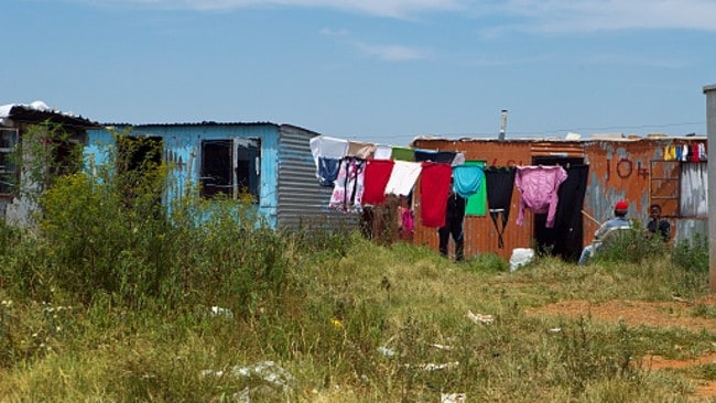 South Africa's shanty towns are locally known as 'informal settlements'.