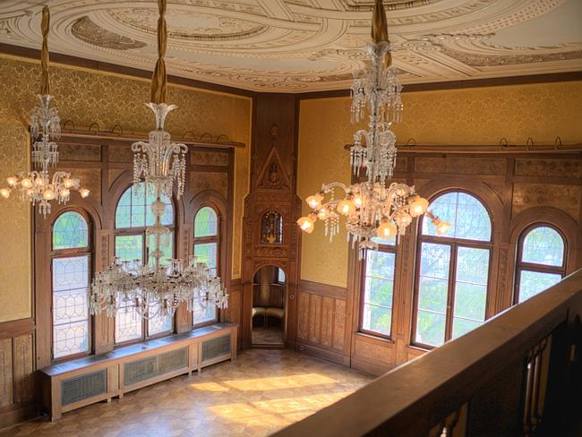 The opulant interior of the castle will host 300 wedding guests.