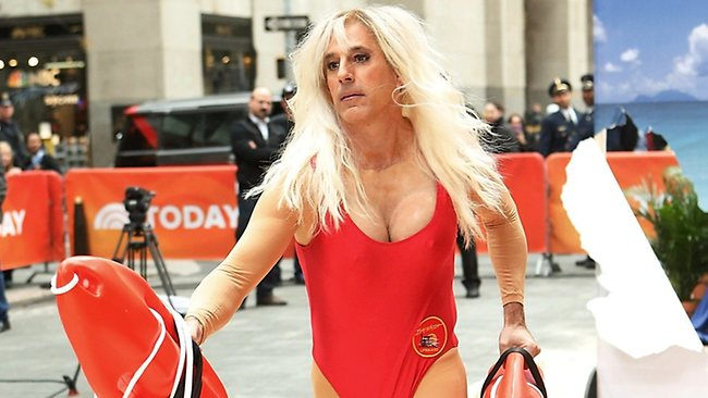 Matt Lauer attends NBC's Today Halloween special where he dressed as Pamela Anderson.