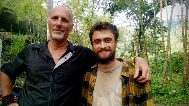 Yossi Ghinsberg and Daniel Radcliffe who plays him in Jungle.